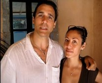 Adrian Paul and Alexandra Tonelli in Italy August 2010