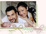 Adrian Paul and Alexandra Tonelli with new daughter Angelisa